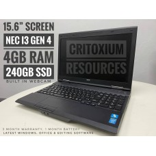 "NEC VERSAPRO i3 4GB 240SSD 15.6"" Screen"