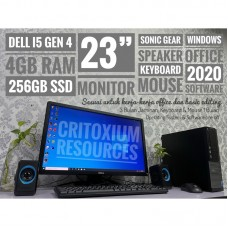 "DELL Optiplex 4GB RAM 240GB SSD 23"" Screen"